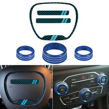 Steering Wheel Emblem Kit&AC Button Cover for Dodge Challenger Charger 2015-2020