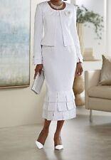 Mother Of Bride Groom Braidesmaid Wedding Evening White Jacket dress plus 26W 3X