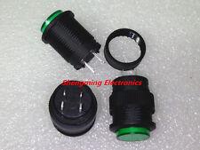 5PCS R16-503AD OFF/ON Green Light Self-locking Latching Push Button Switch
