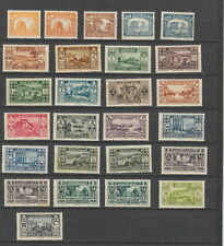 Lebanon 1930 - 1936 values to 100p MH or MNH