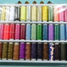 Home 200 Yards 39 Spools 39 Colors Polyester Sewing Thread Cord Set  Per Spool