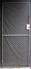 "32""x79"" Vintage Old Steel Metal Fence Gate Door Panel Grille Industrial Factory"