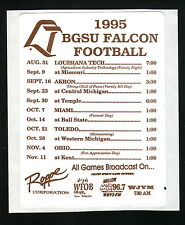 Bowling Green State Falcons--1995 Football Sticker Schedule