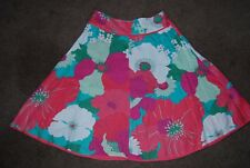 Monsoon Linen Flower Pattern A Line Skirt