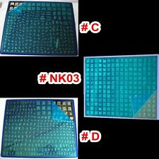 3pcs Large Stamping Plate XXL Nail Art Stamp BIG Print Stencil Template C+D+NK03