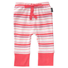 BNWT BABY GIRLS SIZE 00  3-6MONTHS HOT CORAL PINK PANTS STRETCH  ELASTIC W - NEW