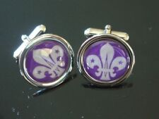 THE SCOUTS BADGE CHROME CUFFLINKS NEW FREE UK POST