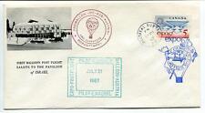 1967 Ballonpost First Post Flight Pro Juventute Aerostato OE-DZB Expo Israele