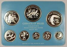 1978 Belize 8 Coin .925 Silver Proof Set w/Box & COA