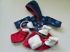 Retired American Girl Molly Skating Outfit & Skates & Muff Set Lot Bundle