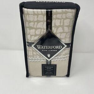 "Waterford Fine Linens PALOMA Euro Sham 30""x30 Beige Tan Fits 26"" Pillow ONE SHAM"