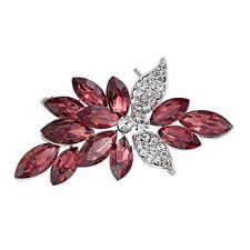 Fashion Purple Amethyst Flower Bouquet Brooches Pin Wedding Bridesmaid Jewelry