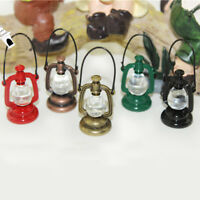 1 X 1:12 Miniature Dollhouse Vintage Oil Lamp Dollhouse Lighting Accessories
