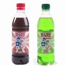 More details for official slush puppie 2 pack frozen cola and apple slushie drink syrup