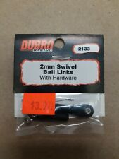 DUBRO RACING 2 MM SWIVEL BALL LINKS WITH HARDWARE CAT NO 2133 NEW IN PKG!