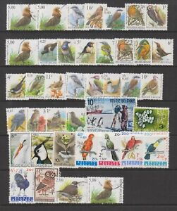 Belgium - Small Collection of 40 Bird stamps - Mint & Used