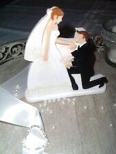Tischdeko Tortendeko Figur Brautpaar  Braut Bräutigam Hochzeit Hochzeitspaar