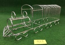 More details for wonderful novelty chrome plated 15 x slice toast rack in the shape of a train