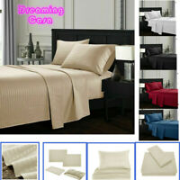 Egyptian Comfort 4 Piece Deep Pocket 1800 Count Bed Sheet Set King Queen Size G7