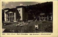 Bad Schandau DDR s/w AK 1955 Partie am FDGB Ferienheim Völkerfreundschaft Wiese