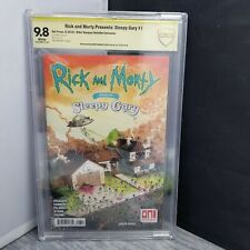 CBCS Graded 9.8 Rick and Morty Presents Sleepy Gary #1 Signed and Sketched