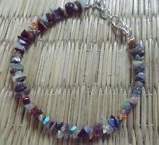 Care project ~handmade multi semi precious chips bracelet, with star charm