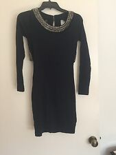 Asos Petite Navy Embellished Cut Out Back Dress Size 4