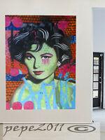 Art print  painter artist Painting Graffiti Street canvas pepe girl face