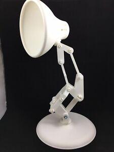 DESK LAMP PIXAR STYLE OVER 12 INCHES TALL WHITE BIOPLASTIC (NO LIGHT)