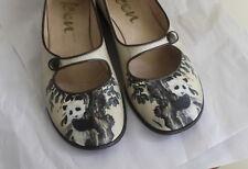 ICON -Wearable Art Sz 6.5 M PANDA Asian Mary Jane Shoes Slip-Ons