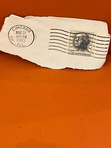 Rare george washington 5 cent Canceled stamp