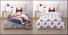 Licensed Nintendo Mariokart Mario Kart 2 in 1 Single Bed Quilt Cover Set Cotton