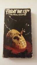Friday The 13th The Final Chapter VHS tape, pre-owned, in decent shape.