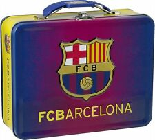OFFICIAL TIN FC BARCELONA LUNCHBOX FREE UK POSTAGE