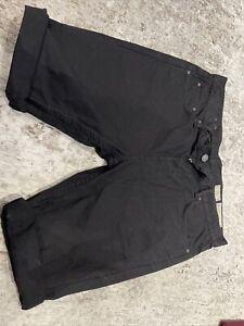 Mens Black All Saints Denim Shorts Waist 34 Slim Short