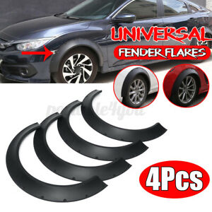 4Pcs Universal Extra Wide Flexible Car Fender Flare Arch Cover Wheel Protector