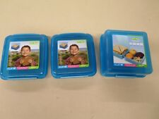 Sistema Lunch Cube & 2 Sistema Sandwich Boxes Blue Klip It Storage Containers