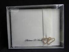 Hortense B. Hewitt Co Ivory Bridal Wedding Guest Book w/Rhinestone Hearts NIB