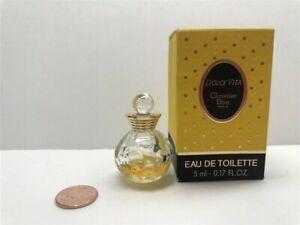 Dolce Vita by Christian Dior 0.17 oz/5 ml Eau de Toilette Mini,Vintage, 25% Full