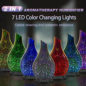 3D Electric Firework Oil Fragrance Aroma Lamp Ultrasonic Humidifier Air Purifier