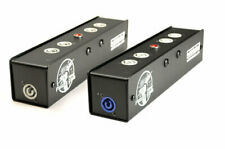 Whirlwind Pl1-420-Nac3 Power Link Box PowerCon In/Out 4 PowerCon Receptacles Blk