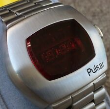 Vintage Pulsar P2 LED Time Computer Watch James Bond **WORKING**