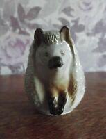 Vintage porcelain figurine Hedgehog,Lomonosov Porcelain Factory USSR