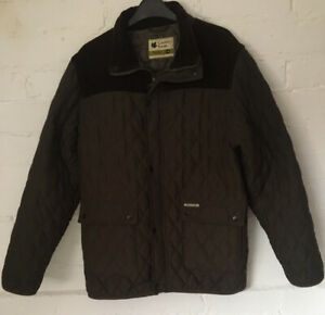 Mens Thetford Country Estate Jacket/coat Size M Green Quilted