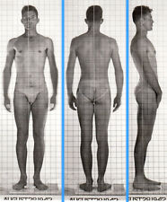 ANGRY HOT BADASS ~ 1940s 5x7 NAVY ID PHOTO NEAR NUDE JOCK SAILOR MAN #3 gay