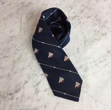 Vintage Spencer F. Baird Schooner 1882 Smithsonian Mens Blue Emblematic Neck Tie