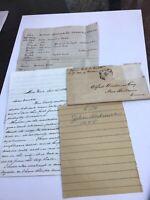 1865 Handwritten Letter E.A.M Smith New York NY John Andrews Genealogy C1645