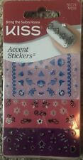 KISS NAIL ACCENT STICKERS - ROMANTICISM #NS28 - 55774 - 120 STICKERS, 3 SHEETS!
