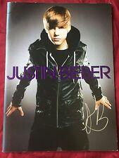 Justin Bieber Signed Tour Book Authentic In Person Autograph Rare