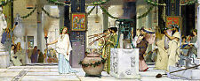 The Vintage Festival by Sir Lawrence Alma-Tadema  A1 high Quality Canvas Print